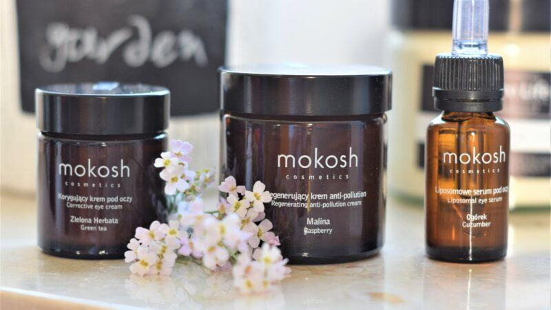 MOKOSH – Regenerujący krem anti-pollution Malina, Korygujący krem pod oczy Zielona Herbata, Liposomowe serum pod oczy Ogórek – recenzja
