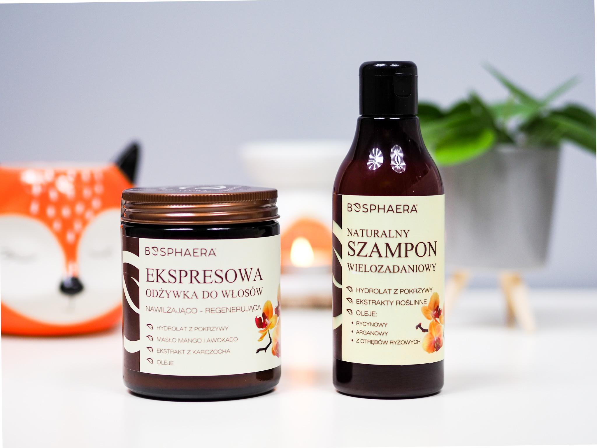 Bosphaera – Ekspresowa odżywka do włosów i Naturalny szampon wielozadaniowy – recenzja